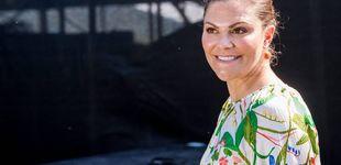 Post de Victoria de Suecia: un vestido reciclado para un discurso conmovedor