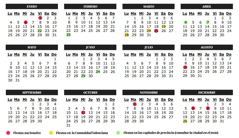 Calendario Laboral De Valencia.Vacaciones Calendario De Fiestas 2016 En La Valencia Semana Santa