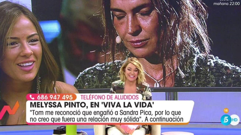 Toñi Moreno hablando con Melyssa. (Telecinco).