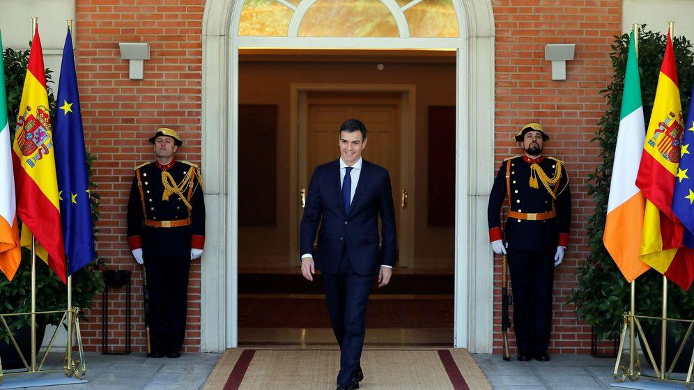 Foto: Pedro Sánchez, durante su encuentro con el primer ministro de Irlanda, Leo Varadkar. (EFE)
