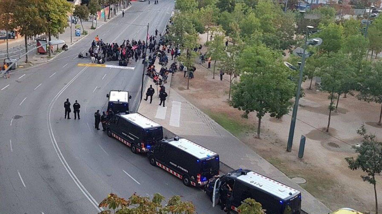 Protestas en Girona. (EC)