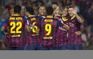 El Barcelona saca de pista a la Real ofreciendo su mejor versión del curso