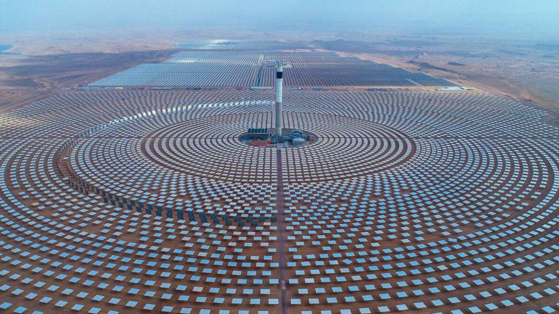 Foto: La Noor Ouarzazate Solar Power Station, en Marruecos