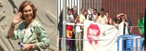 Foto: Mérida recibe a la Reina al grito de Sofía, Sofía, la olla está vacía