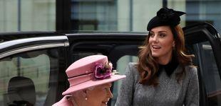 Post de Kate Middleton, escudera de la reina Isabel II siete años después