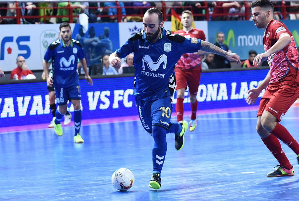 Foto: Ricardinho, con dos goles, llevó a su equipo a la victoria (FOTO: intermovistar.com)