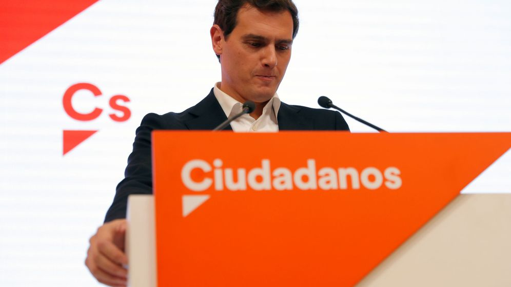 Foto: Albert Rivera anuncia su dimisión. (Reuters)