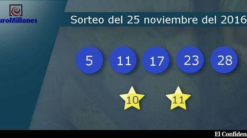 Resultados del sorteo del Euromillones del 25 de noviembre de 2016