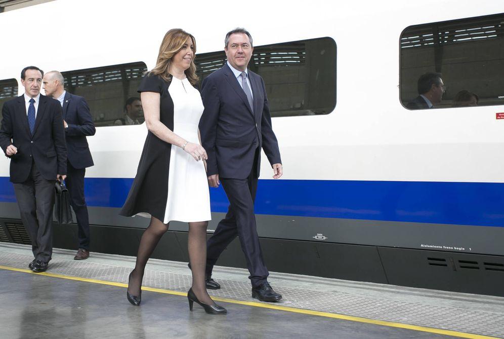 Foto: La presidenta de Andalucía en su acto de este viernes. (Gtres)