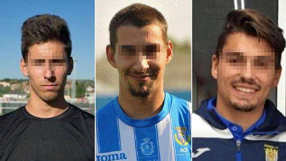 Foto: Los tres jugadores de la Arandina (Carlos Cuadrado, Vity Ramos y Raúl Calvo)