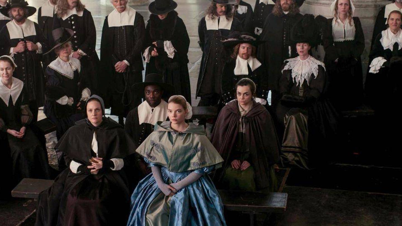 La familia Strand durante un oficio religioso.
