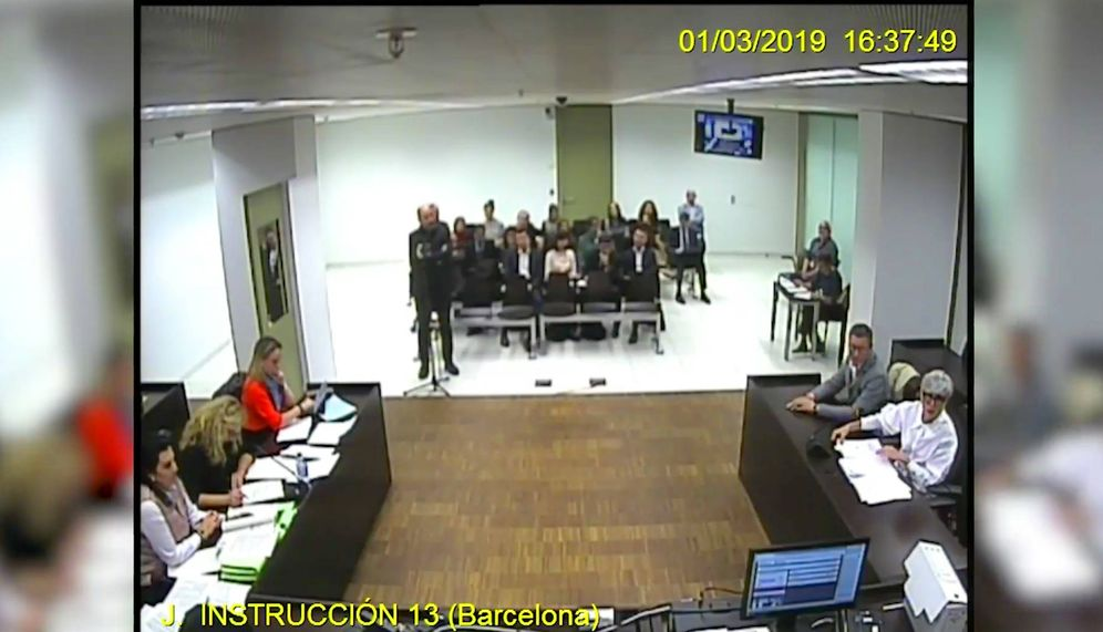 Foto: Vicente Sanchís, director de TV3, declarando en el juicio.