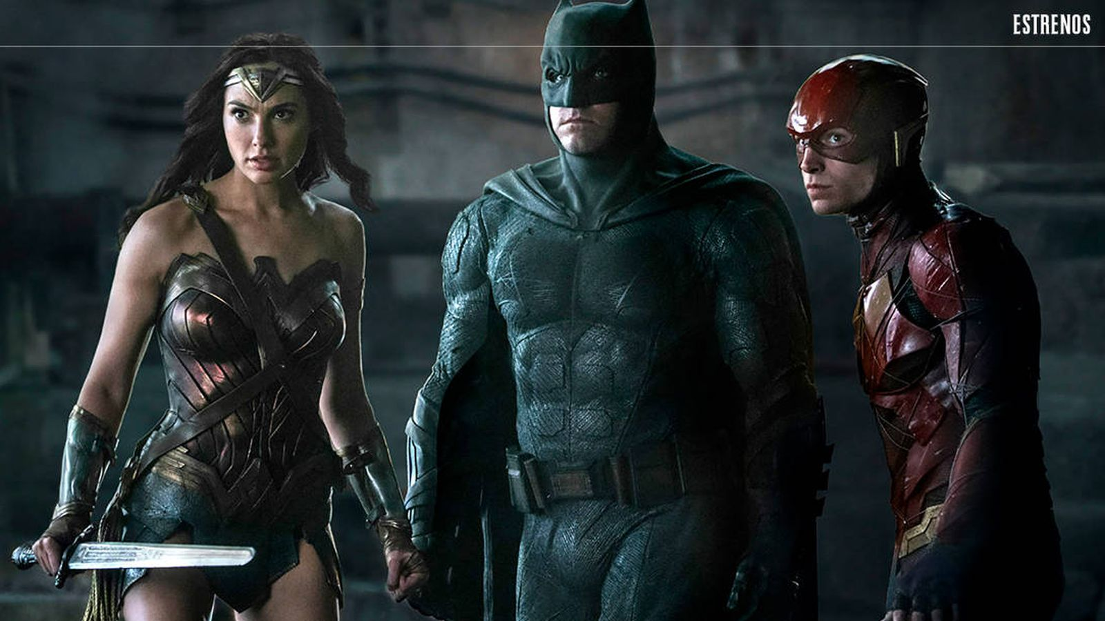 Foto: Wonder Woman, Batman y Flash, en una imagen de 'La liga de la justicia'. (Warner)