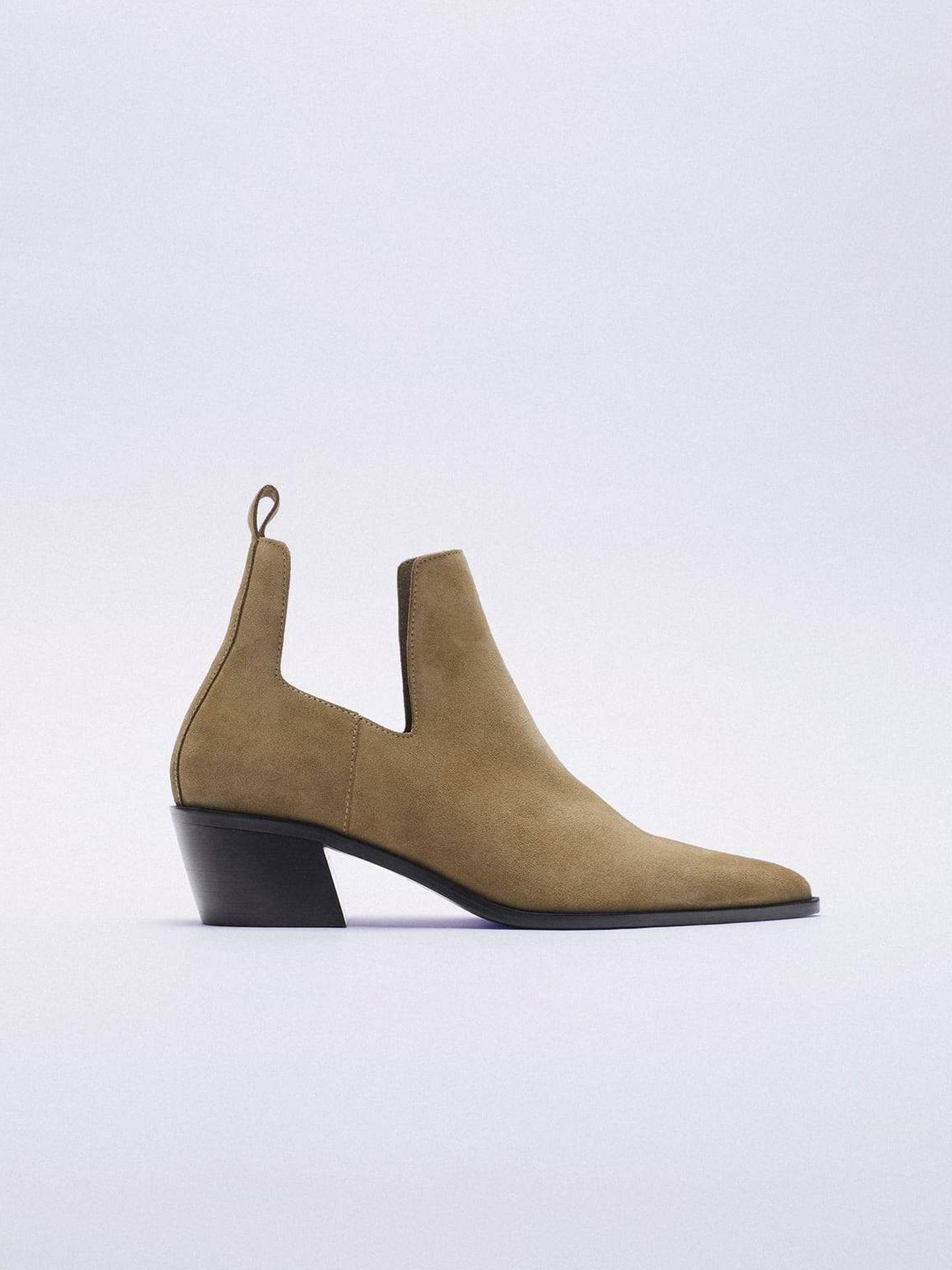 Botines de Zara. (Cortesía)