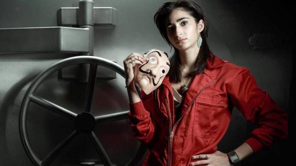 Foto: Alba Flores posando para 'La casa de papel'.