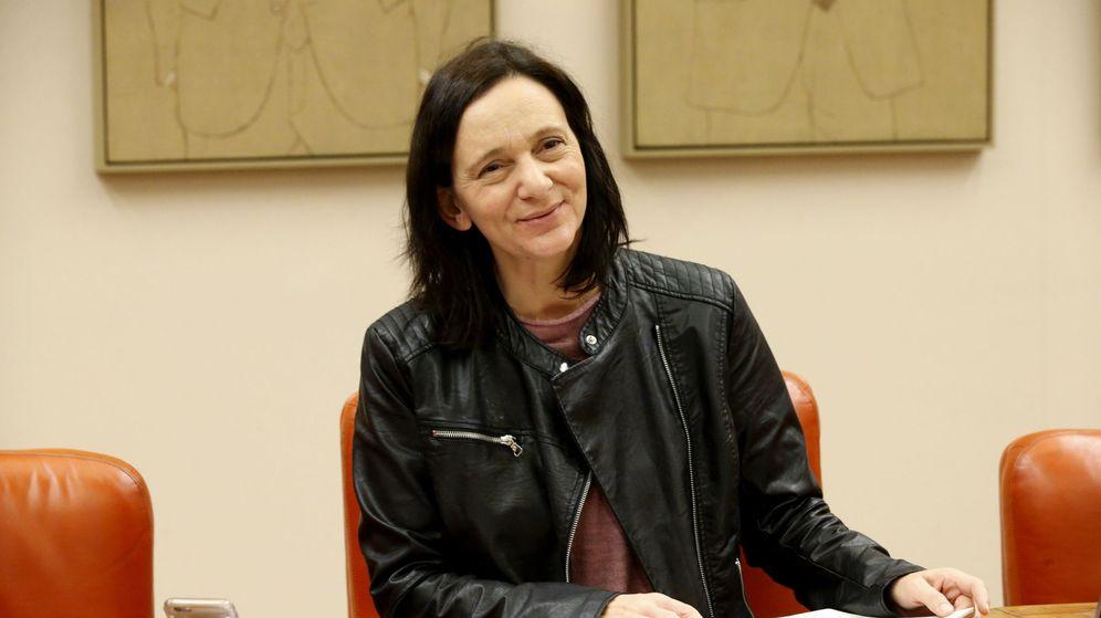 Foto: Carolina Bescansa, presidiendo la reunión del grupo parlamentario de Unidos Podemos, el pasado 15 de diciembre. (EFE)