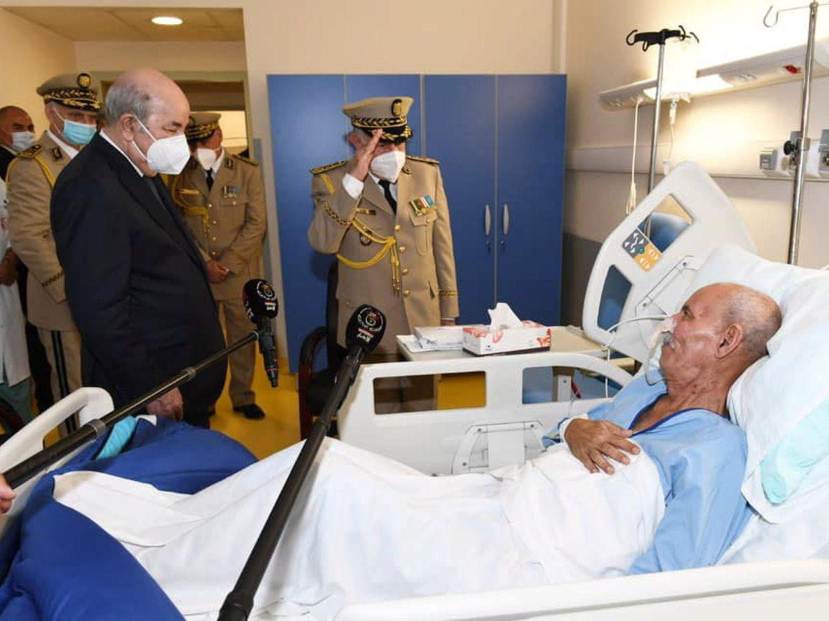 Foto: Brahim Ghali, hospitalizado. (EFE)