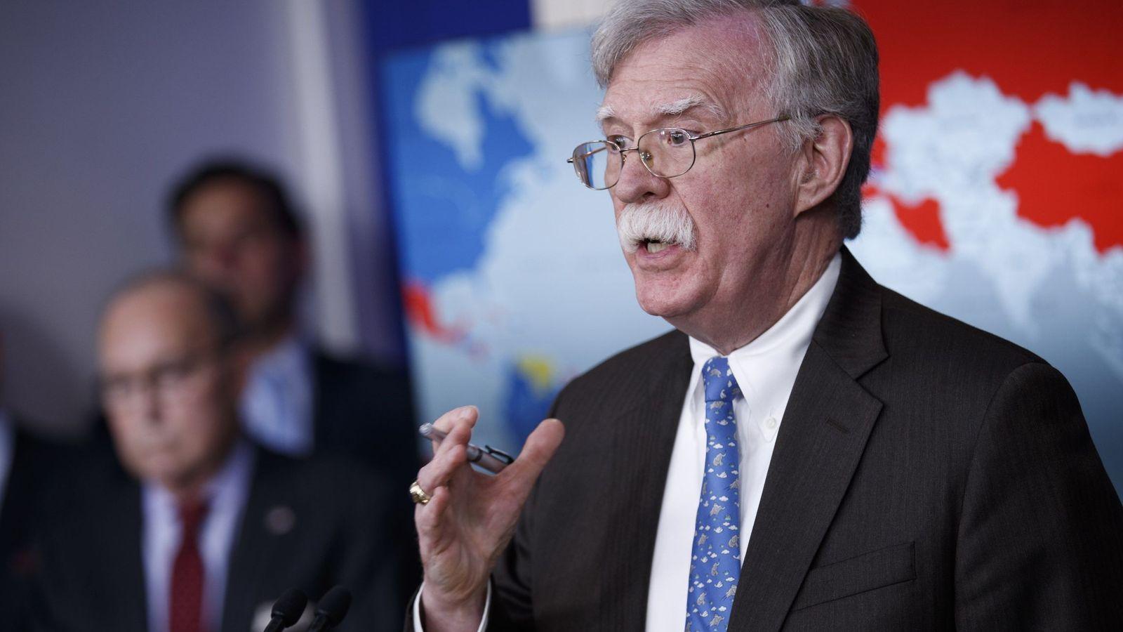 Foto: El Asesor de Seguridad Nacional de EEUU, John Bolton. (Reuters)