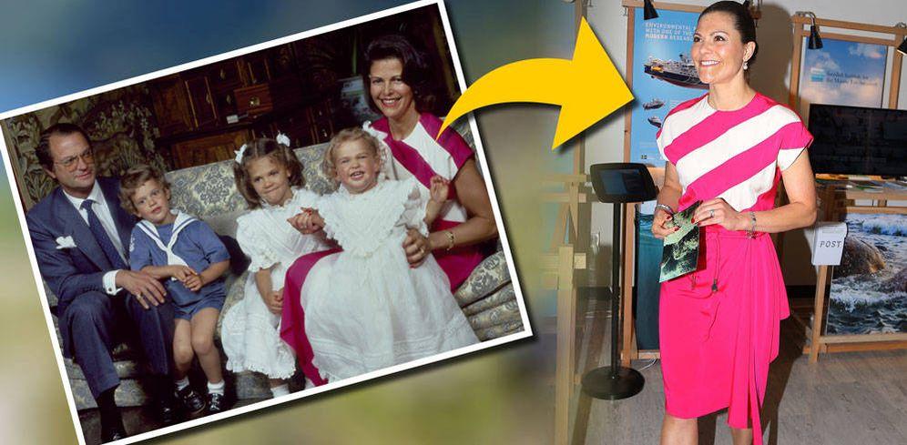 Foto: La princesa Victoria con el mismo vestido de su madre.
