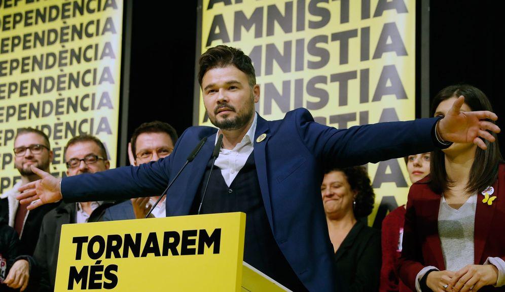 Foto: El cabeza de lista al Congreso por ERC, Gabriel Rufián.(EFE)