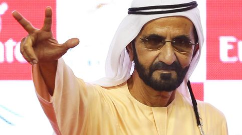 El posado del emir de Dubái con sus nietos para conseguir mejorar su imagen pública