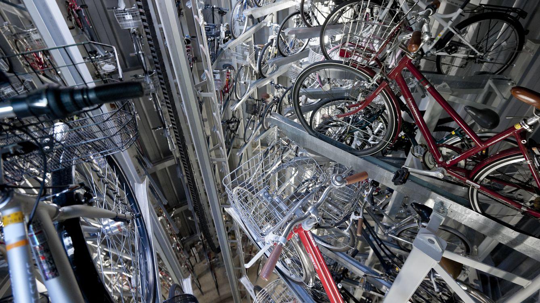 Foto: Aparcamiento subterráneo robótico para bicicletas en Japón