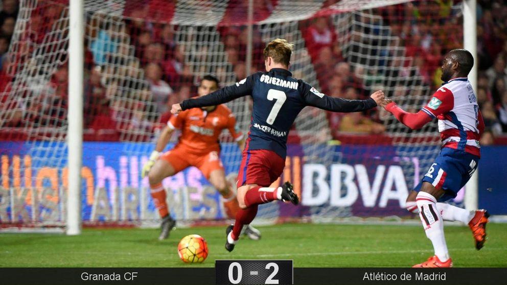 Griezmann es la excepción de un Atlético más eficaz que contundente