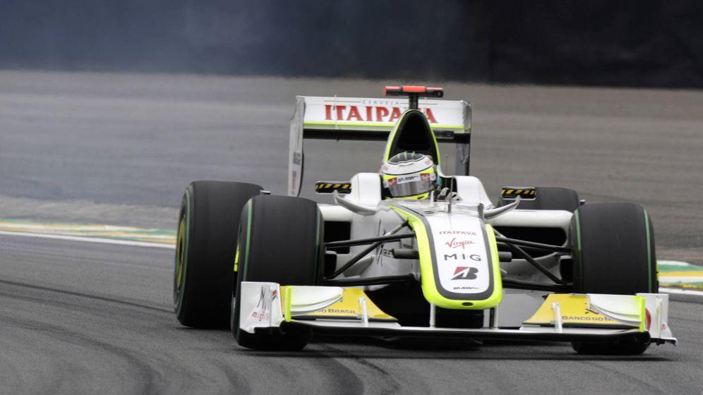 Foto: Jenson Button en el trazado de Interlagos.