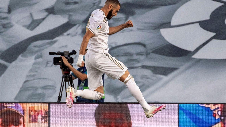 Foto: Karim Benzema celebra su segundo gol (Efe).