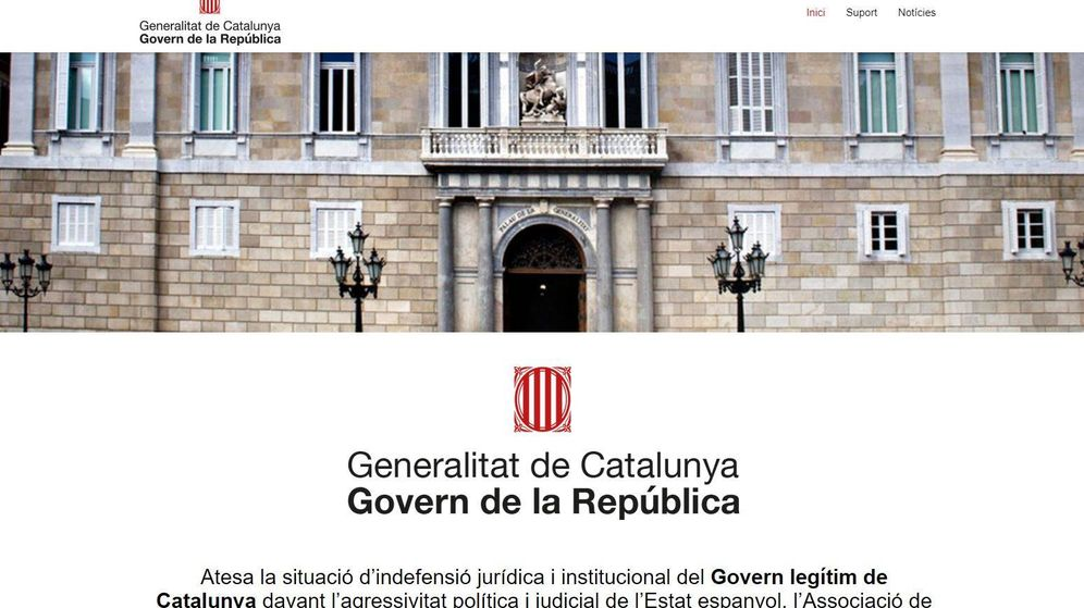 Foto: Captura de la nueva web de Puigdemont