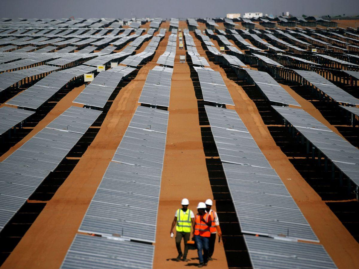 Foto: Foto de archivo de una planta fotovoltaica. (Reuters)