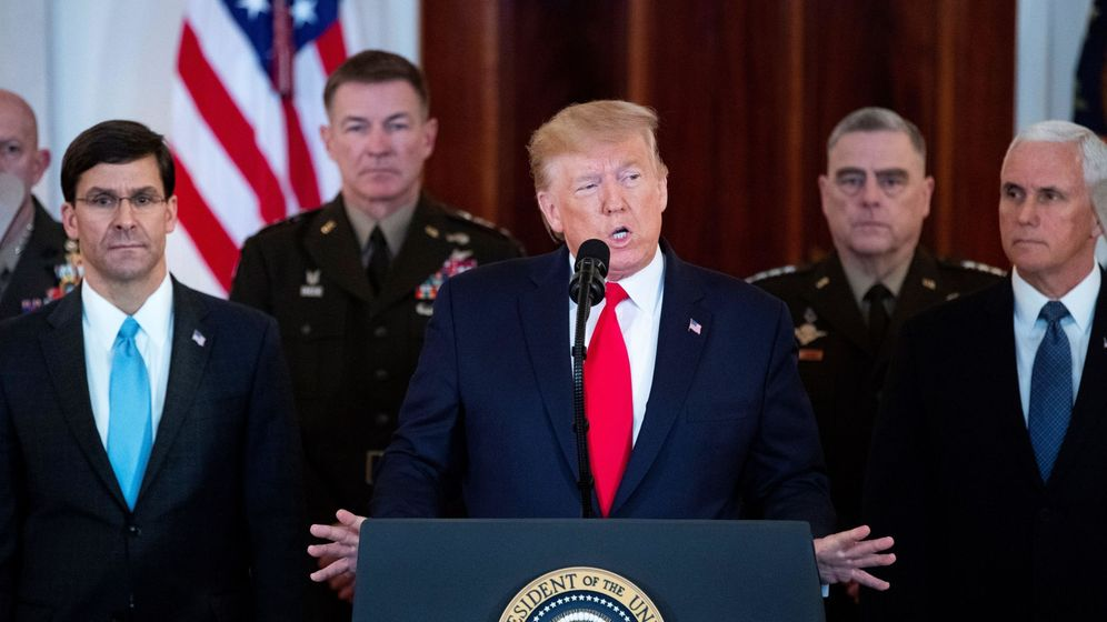 Foto: Donald Trump, durante el discurso a la nación. (EFE)