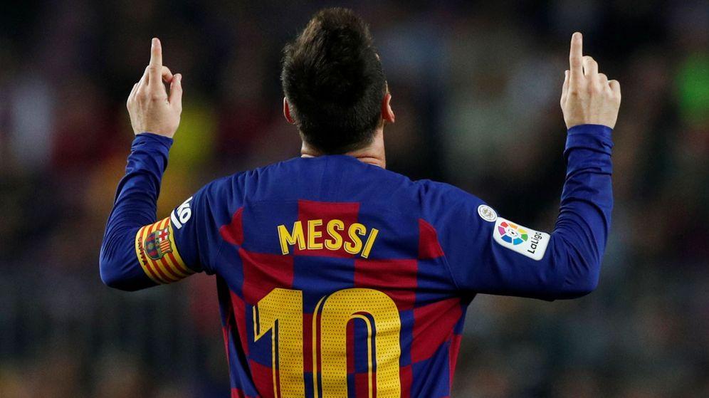 Foto: Leo Messi celebra uno de los goles ante el Valladolid. (Reuters)