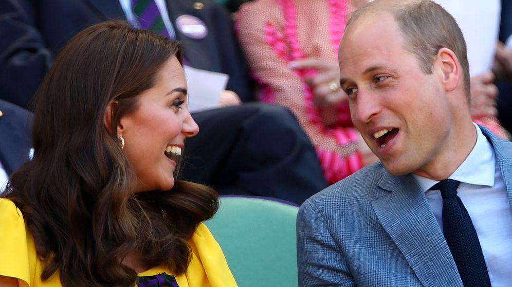 Foto: Guillermo y Kate, en Wimbledon. (Getty)