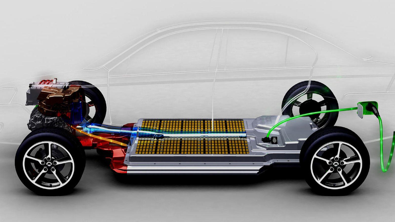 Foto: Batería de un coche eléctrico basada en litio-ion