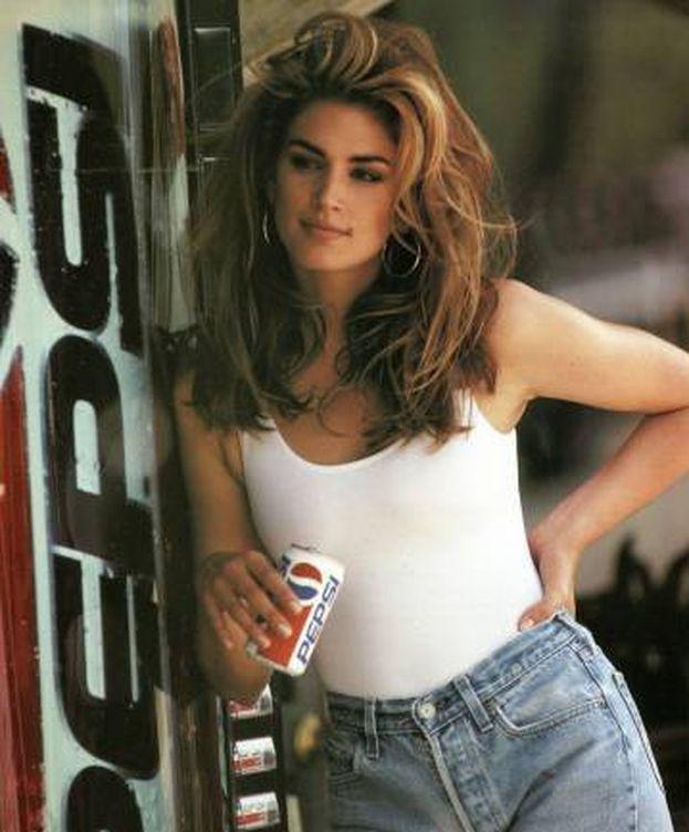 Foto: Cindy Crawford para Pepsi. (Cortesía)