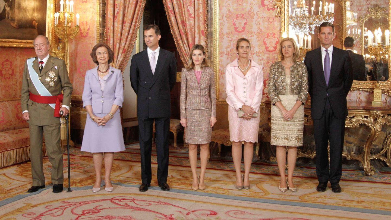 Una recepción de la familia real en 2011. (Getty)