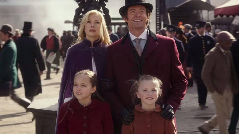 Michelle Williams y Hugh Jackman en una secuencia de la película.