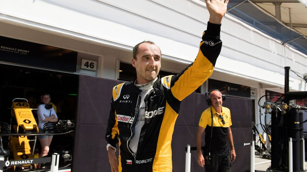 Foto: Robert Kubica probó con Renault en el test post-GP de Hungría en Hungaroring. (EFE)