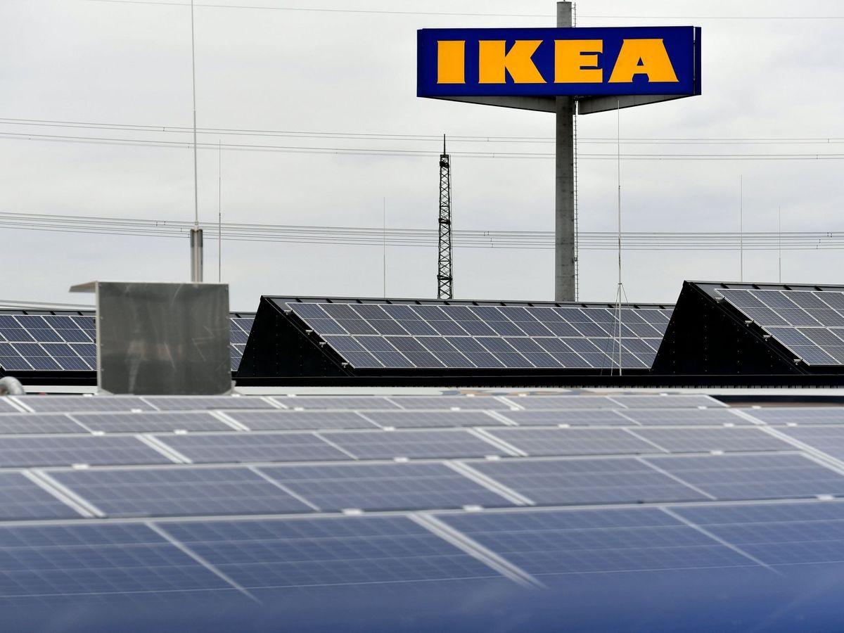Foto: Placas solares Ikea. (EFE)