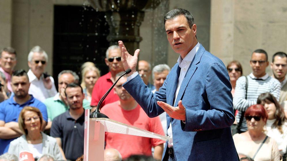 Foto: El presidente del Gobierno, Pedro Sánchez, participó este jueves en la campaña en Canarias (Efe)