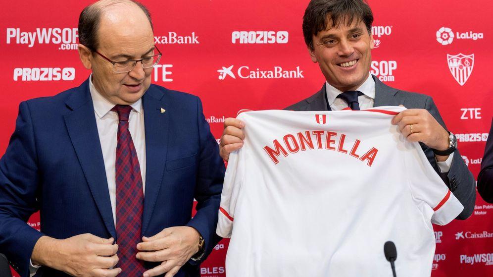 Foto: Vincenzo Montella junto a Pepe Castro. (EFE)