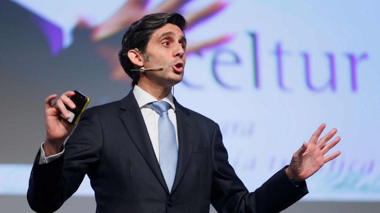 El presidente ejecutivo de Telefónica, José María Álvarez-Pallete, en una ponencia. (EFE)