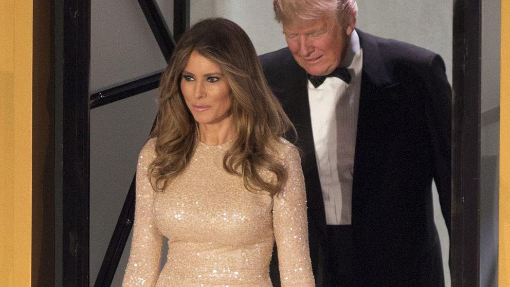 Melania Trump sí tiene diseñador: su impresionante vestido de Reem Acra en una cena en honor a su marido