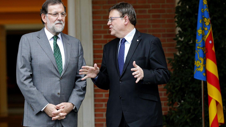 Mariano Rajoy y Ximo Puig, en el encuentro que mantuvieron en noviembre en La Moncloa. (EFE)