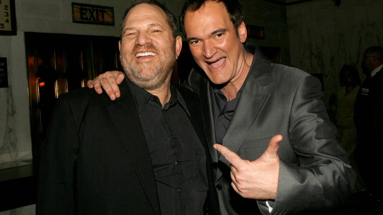 Junto a Tarantino, cuando Weinstein era todopoderoso. (Getty)