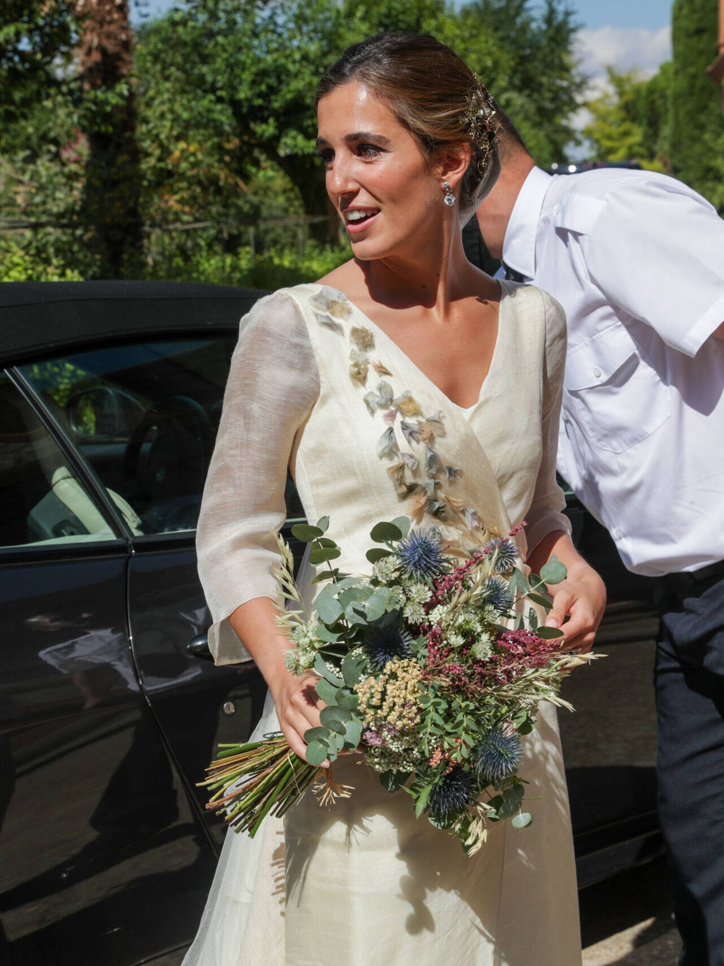 María Corsini en su boda. (Gtres)