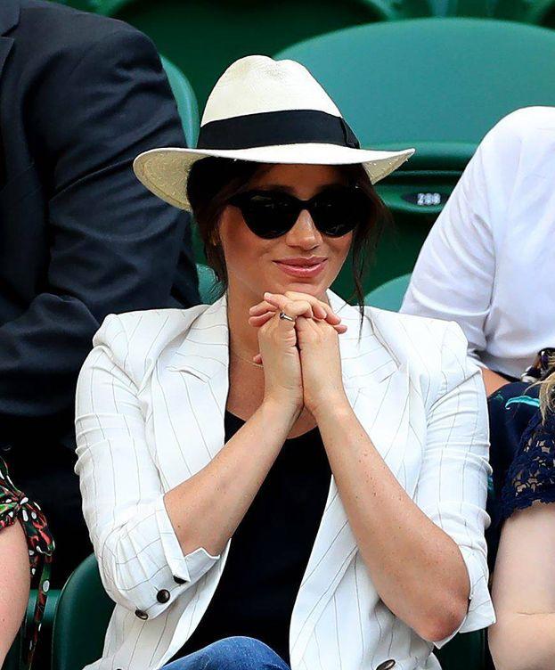 Foto: Meghan Markle en Wimbledon. (Cordon Press)
