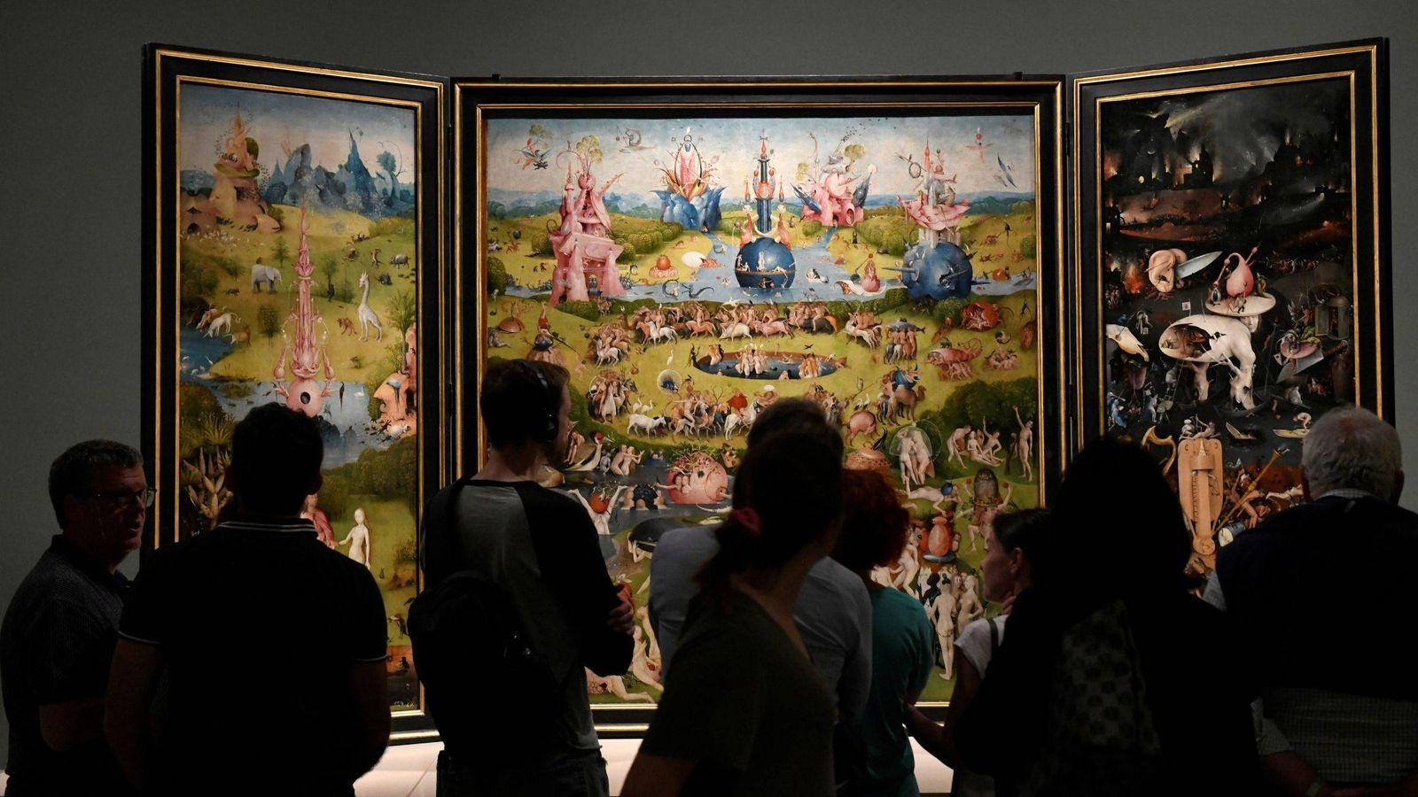 Foto: El jardín de las Delicias, de El Bosco, en el Museo del Prado. (EFE)