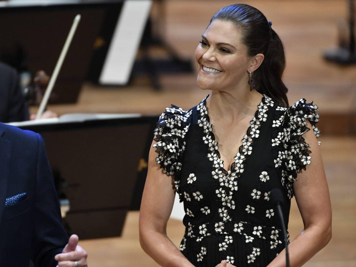 Foto: La princesa Victoria de Suecia, este jueves en Estocolmo. (Cordon Press)